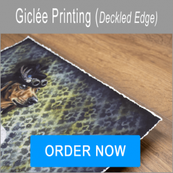 Giclee printing Hand Finished Deckled Edges