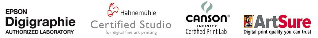 Hahnemuhle Certified Studio, Epson Digigraphie Authorised Laboratory, Fine art Trade Guild Artsure Approved Print Studio