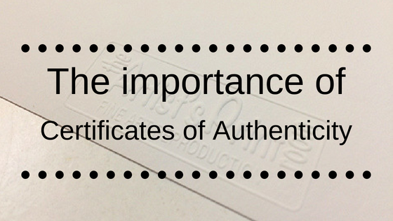 The importance of certificates of authenticity