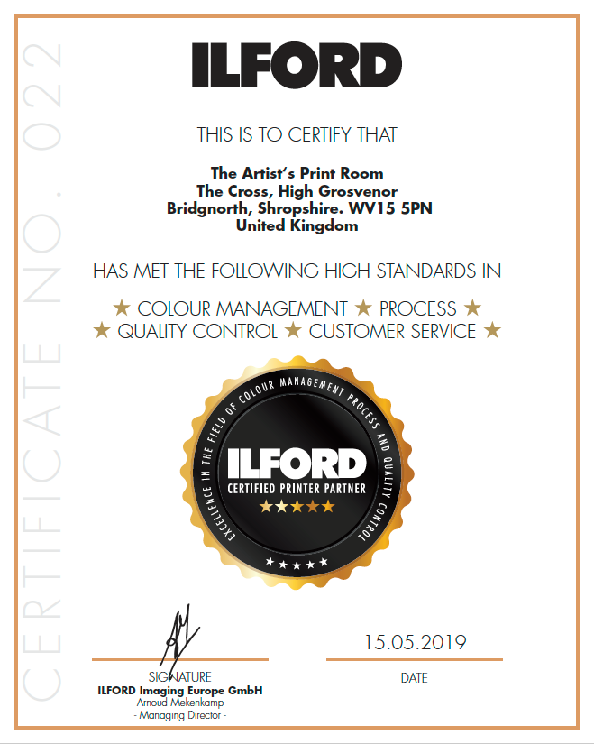 ILFORD Certified Print Partner
