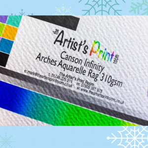 Canson Infinity Arches Aquarelle Rag Paper Texture - The Artists Print Room