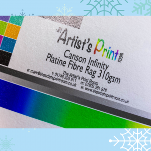 Canson Infinity Platine Fibre Rag Paper Texture - The Artists Print Room