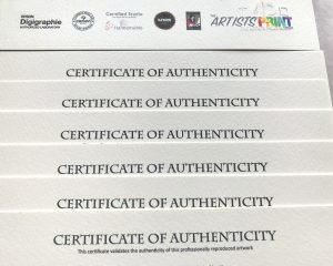 certificate of authenticity with accreditations