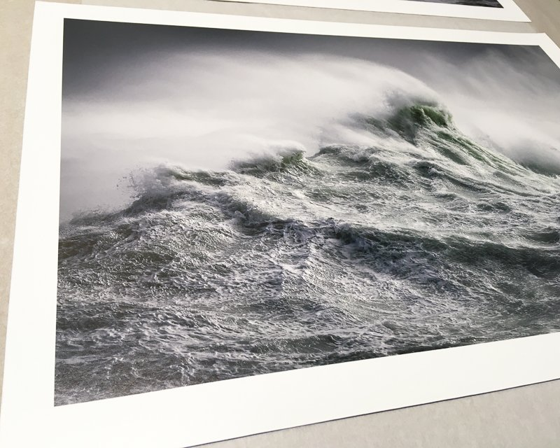 giclée photo print of waves